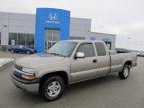 2001 Light Pewter Metallic Chevrolet Silverado 1500 LS Extended Cab 4x4 #40962336