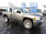 2011 Taupe Gray Metallic Chevrolet Silverado 1500 Regular Cab 4x4 #40961952