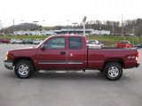 2004 Sport Red Metallic Chevrolet Silverado 1500 LS Extended Cab 4x4 #40961776