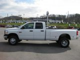 2007 Bright White Dodge Ram 3500 ST Quad Cab 4x4 Dually #40961785