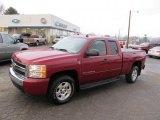 2007 Sport Red Metallic Chevrolet Silverado 1500 LT Z71 Extended Cab 4x4 #40962221