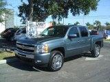 2011 Blue Granite Metallic Chevrolet Silverado 1500 LT Crew Cab #40961825