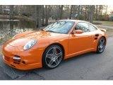 2007 Orange Porsche 911 Turbo Coupe #4087694