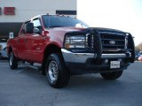 2004 Red Ford F250 Super Duty Lariat Crew Cab 4x4 #41023192
