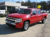 2010 Victory Red Chevrolet Silverado 1500 LT Crew Cab #41023099
