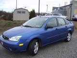 2005 French Blue Metallic Ford Focus ZX4 SES Sedan #41022880