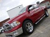 2010 Inferno Red Crystal Pearl Dodge Ram 1500 Laramie Crew Cab 4x4 #41057274