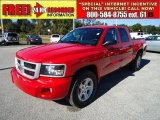 2010 Flame Red Dodge Dakota Big Horn Crew Cab #41068630
