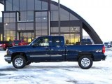 2005 Dark Blue Metallic Chevrolet Silverado 1500 LS Extended Cab 4x4 #41112214