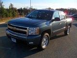 2011 Blue Granite Metallic Chevrolet Silverado 1500 LT Crew Cab 4x4 #41112293