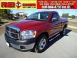 2008 Inferno Red Crystal Pearl Dodge Ram 1500 SXT Regular Cab #41112319