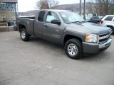 2011 Steel Green Metallic Chevrolet Silverado 1500 LS Extended Cab 4x4 #41111722