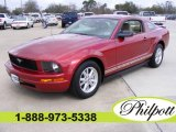 2007 Redfire Metallic Ford Mustang V6 Deluxe Coupe #4096016