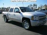 2011 Sheer Silver Metallic Chevrolet Silverado 1500 LT Crew Cab 4x4 #41177736