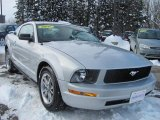 2005 Satin Silver Metallic Ford Mustang V6 Deluxe Coupe #41177855