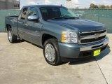 2009 Blue Granite Metallic Chevrolet Silverado 1500 LT Extended Cab #41177368