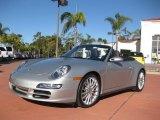 2008 Arctic Silver Metallic Porsche 911 Carrera 4S Cabriolet #41177170