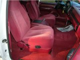 1996 Ford F150 XLT Extended Cab Red Interior
