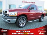 2006 Inferno Red Crystal Pearl Dodge Ram 1500 ST Regular Cab #41237754