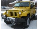 2011 Jeep Wrangler Unlimited Detonator Yellow
