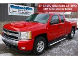 2007 Victory Red Chevrolet Silverado 1500 LT Extended Cab 4x4 #41237827