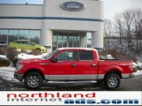2010 Vermillion Red Ford F150 XLT SuperCrew 4x4 #41237630