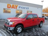 2010 Vermillion Red Ford F150 XLT SuperCrew 4x4 #41237690
