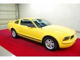 2005 Screaming Yellow Ford Mustang V6 Deluxe Coupe #41237735