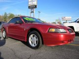 2001 Laser Red Metallic Ford Mustang V6 Convertible #41300845