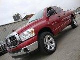 2007 Inferno Red Crystal Pearl Dodge Ram 1500 ST Quad Cab 4x4 #41300428