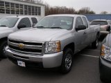 2011 Sheer Silver Metallic Chevrolet Silverado 1500 Extended Cab 4x4 #41300689