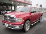 2009 Inferno Red Crystal Pearl Dodge Ram 1500 Big Horn Edition Crew Cab 4x4 #41300935