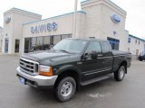 2000 Woodland Green Metallic Ford F250 Super Duty Lariat Extended Cab 4x4 #41300747