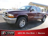 2003 Dark Garnet Red Pearl Dodge Dakota SLT Quad Cab #41301346