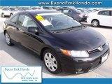 2007 Nighthawk Black Pearl Honda Civic LX Coupe #41404072