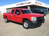 2008 Victory Red Chevrolet Silverado 1500 Work Truck Extended Cab #41423580