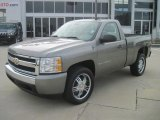 2008 Graystone Metallic Chevrolet Silverado 1500 LS Regular Cab #41423607