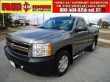 2008 Graystone Metallic Chevrolet Silverado 1500 Work Truck Regular Cab #41423785