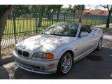 2001 Titanium Silver Metallic BMW 3 Series 330i Convertible #41423499