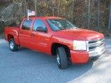2010 Victory Red Chevrolet Silverado 1500 LT Crew Cab #41423897