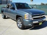 2009 Blue Granite Metallic Chevrolet Silverado 1500 LT Crew Cab #41423527