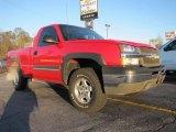 2003 Victory Red Chevrolet Silverado 1500 Regular Cab 4x4 #41459881