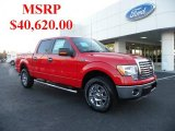 2011 Race Red Ford F150 XLT SuperCrew 4x4 #41459742