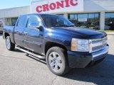 2008 Dark Blue Metallic Chevrolet Silverado 1500 LT Crew Cab #41459771