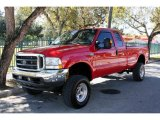 2004 Red Ford F250 Super Duty XLT SuperCab 4x4 #41459778