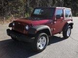 2011 Deep Cherry Red Crystal Pearl Jeep Wrangler Sport S 4x4 #41460174