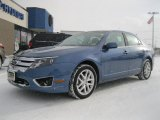 2010 Sport Blue Metallic Ford Fusion SEL V6 AWD #41508628