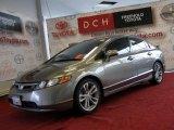 2007 Galaxy Gray Metallic Honda Civic Si Sedan #41508649