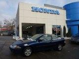 2002 Indigo Blue Metallic Chevrolet Cavalier Coupe #41508275