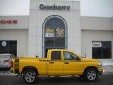 2008 Detonator Yellow Dodge Ram 1500 Big Horn Edition Quad Cab 4x4 #41533950